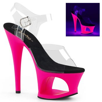 Plateau High Heels MOON-708UV - Neon Pink
