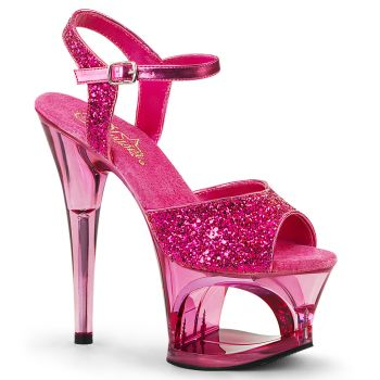 Plateau High Heels MOON-710GT - Pink
