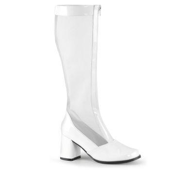 Netz Stiefel GOGO-307 - Lack Weiß