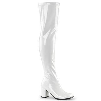 Overknee Stiefel GOGO-3000 - Lack Weiß