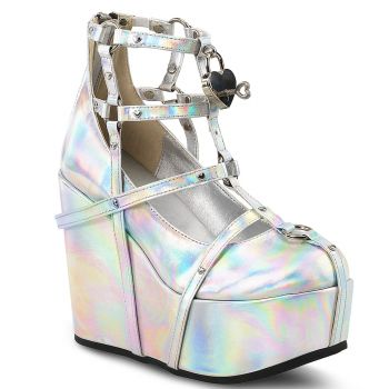 Plateau Wedges  POISON-25-2 - Silber Hologramm