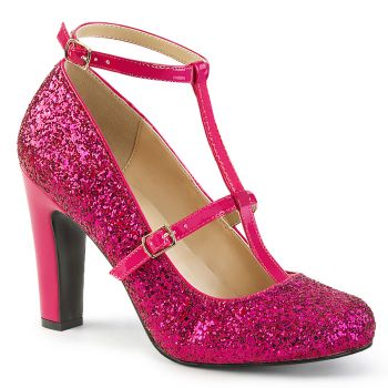 Glitter Pumps QUEEN-01 - Hot Pink