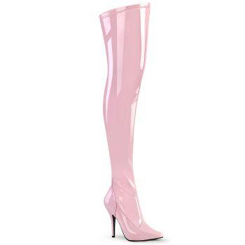 Overknee Stiefel SEDUCE-3000 - Lack Baby Pink