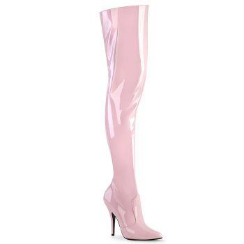 Overknee Stiefel SEDUCE-3010 - Lack Baby Pink*