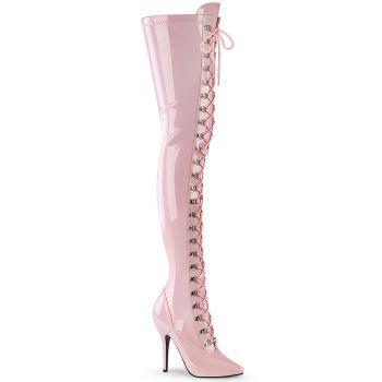 Overknee Stiefel SEDUCE-3024 - Lack Baby Pink