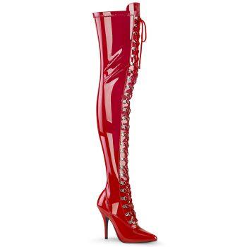 Overknee Stiefel SEDUCE-3024 - Lack Rot*