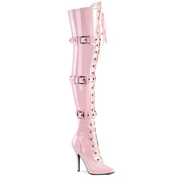 Overknee Stiefel SEDUCE-3028 - Lack Baby Pink