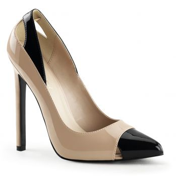 Stiletto Pumps SEXY-22 - Nude/Schwarz
