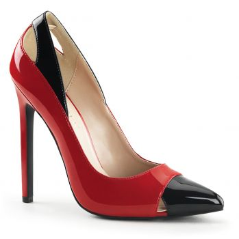 Stiletto Pumps SEXY-22 - Rot/Schwarz