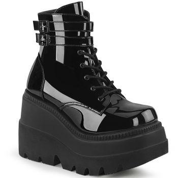 Plateau Ankle Boots SHAKER-52 - Lack Schwarz