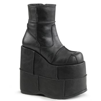 Plateau Ankle Boots STACK-201 - Schwarz*