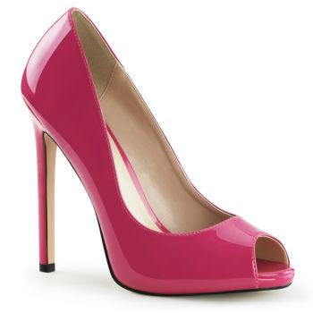 Stiletto Peeptoes SEXY-42 - Lack Hot Pink