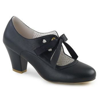 Retro Pumps WIGGLE-32 - PU Schwarz