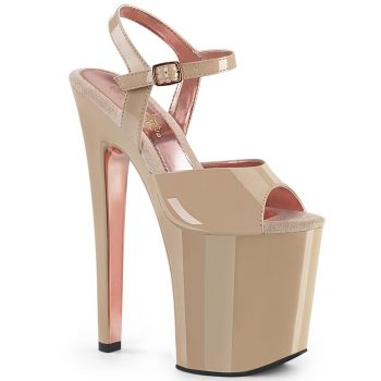 Extrem Plateau Heels XTREME-809TT - Nude/Rose Gold