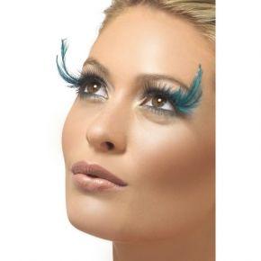 Augenwimpern mit grünen Federn*