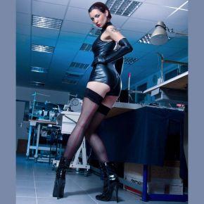 Wetlook Bodysuit - Schwarz