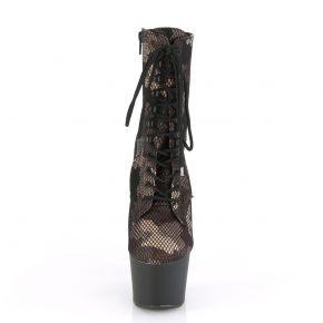 Plateau Stiefelette ADORE-1020CM - Camouflage/Schwarz
