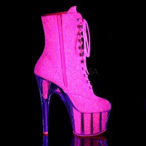 Glitter Plateau Stiefelette ADORE-1020G - Neon Pink