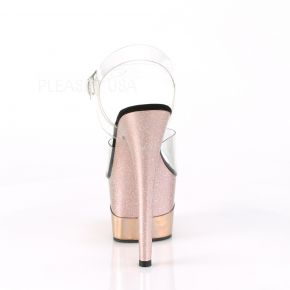 Plateau High Heels ADORE-708-2HGM - Rose Gold