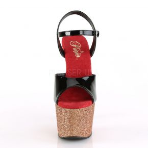 Plateau High Heels ADORE-709OMBRE - Gold/Rot