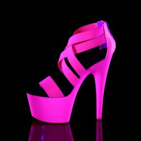 Plateau High Heels ADORE-769UV - Neon Pink