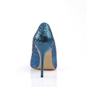 Stiletto Pumps CLASSIQUE-20 - Blau Glitzer