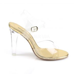 Sandalette CLEARLY-408 - Klar/Gold