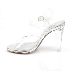 Sandalette CLEARLY-408 - Klar/Silber
