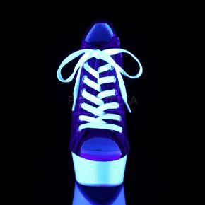 Canvas High Heel Sneakers DELIGHT-600SK-01 - Rot