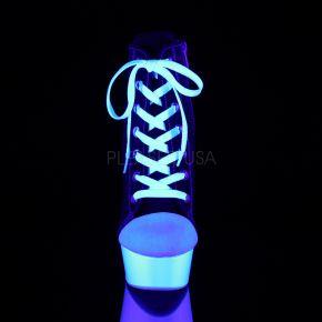 Canvas High Heel Sneakers DELIGHT-600SK-02 - Schwarz