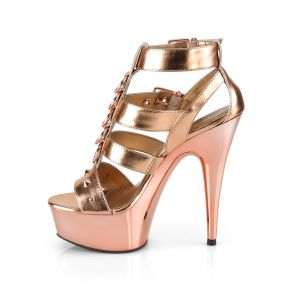 Plateau High Heels DELIGHT-658 - Rose Gold