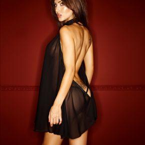 Chiffon Neckholder Kleid