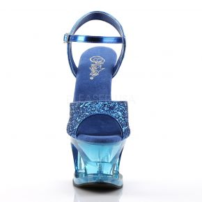 Plateau High Heels MOON-710GT - Blau