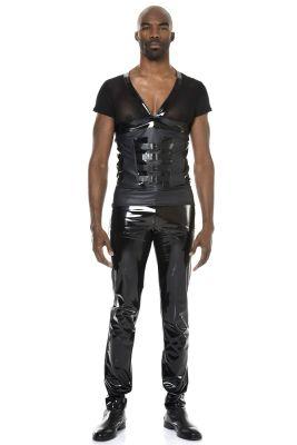 V-Neck Shirt JORDAN - Schwarz
