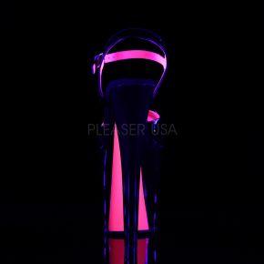 Extrem Plateau Heels XTREME-809TT - Schwarz/Neon Pink