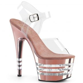 Plateau High Heels ADORE-708CHLN - Rose Gold