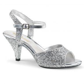 Glitter Sandalette BELLE-309G - Silber