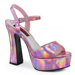 Plateau Sandalette DOLLY-09 - Pink Hologramm