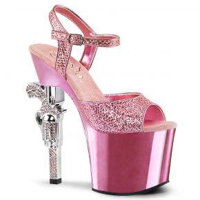 Plateau High Heels REVOLVER-709G - Baby Pink