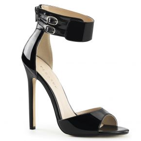 Stiletto Sandalette SEXY-19 - Lack Schwarz